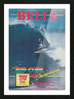 1983 RIP CURL BELLS BEACH EASTER Surfing Championship Competition Print - Surfing Poster Picture Frame print