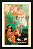 1995 ROXY QUICKSILVER HAWAII PRO Surfing Competition Poster Picture Frame print