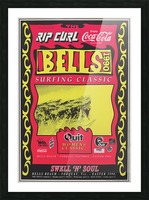 1990 RIP CURL BELLS BEACH EASTER Surfing Championship Competition Print - Surfing Poster Picture Frame print
