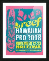 2008 REEF HAWAIIAN PRO Surf Competition Poster Picture Frame print
