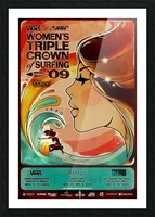 2009 Womens VANS TRIPLE CROWN OF SURFING Competition Poster Picture Frame print