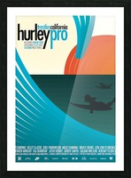2012 HURLEY PRO TRESTLES Surf Competition Poster Picture Frame print