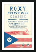 2012 ROXY PUERTO RICO CLASSIC Surfing Competition Print Picture Frame print