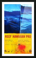 2012 REEF HAWAIIAN PRO Surfing Competition Print Picture Frame print