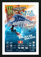 2013 ACAPULCO PRO Surf Competition Print Picture Frame print