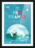 2014 ROXY PRO FRANCE Surfing Competition Poster Picture Frame print