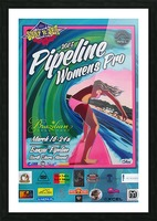 2015 PIPELINE WOMENS PRO Surfing Competition Print Picture Frame print