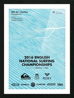 2016 ENGLISH NATIONAL SURFING Tournament Poster Picture Frame print