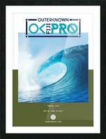 2017 OUTERKNOWN FIJI PRO Surf Competition Print Picture Frame print