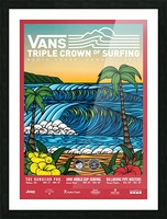 2017 VANS TRIPLE CROWN OF SURFING Competition Print Picture Frame print