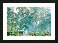 Bryant Park New York Picture Frame print