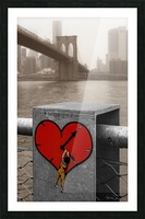Fight - Peace - Love Picture Frame print