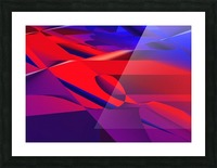 red and blue 0513a219 Picture Frame print