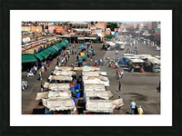 View Over Jemaa el Fnaa 1 Picture Frame print