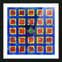 Verhomera - abstract cube worlds Picture Frame print