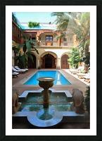Riad Pool View Marrakesh Picture Frame print