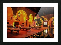 Riad At Night In Marrakech Picture Frame print