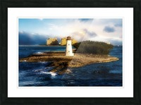 Bahamas Lighthouse with Resort Soft Picture Frame print