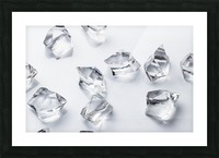 Crystals on the white background Picture Frame print