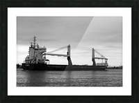 A Dark Ship and Dark Day 051219 Picture Frame print