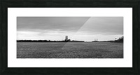 Saint Clair River Gray Day 051219 BW Picture Frame print