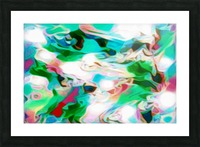 Waterfall - multicolor abstract swirls Picture Frame print