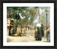 Parisian street scene -1- by Hassam Picture Frame print