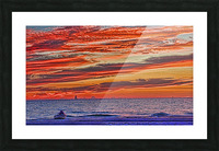 Tropical Gulf Nights Picture Frame print