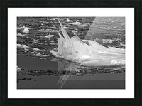 Jagged Ice on the River BW 021619 Picture Frame print