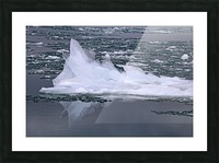 Jagged Ice on the River 2 021619 Picture Frame print