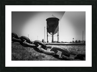 Pinhole Water Tower Picture Frame print