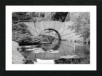 Reflecting Bridge Dow Gardens BW 062618 Picture Frame print