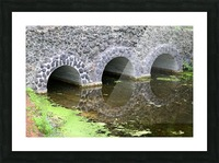 Stone Bridge and Reflection 4 Dow Gardens 3 062618 Picture Frame print