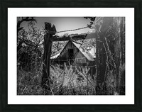 Abandoned Black and White Picture Frame print