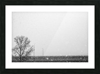 Freeway Snow... Picture Frame print