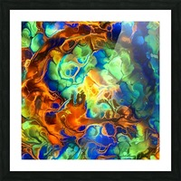Colorful Fluids Picture Frame print