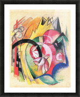 Colored flowers by Franz Marc Picture Frame print