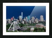 Edmonton Skyline & Thunderstorm... Picture Frame print
