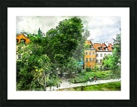 Warsaw city art Picture Frame print