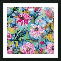 Colorful Floral Abstract  Picture Frame print