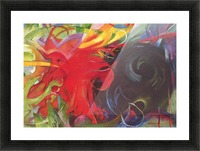 Fighting forms by Franz Marc Picture Frame print