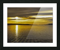 Powell River Sunset  Picture Frame print