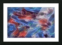 Blue Flames - multicolor abstract swirls Picture Frame print