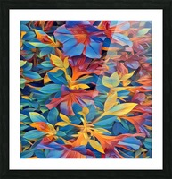 Abstract Garden Picture Frame print