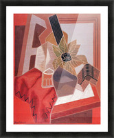 Flowers on the table by Juan Gris Picture Frame print