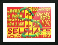 CHURCH OF SELFHATE-LETTER 2 D POPE-ECO-ARCHITECT TOMMY MIGUEL BOYD Picture Frame print