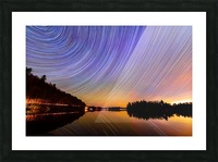 StarTrails Quebec Picture Frame print