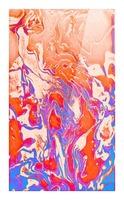Harmonized Masculine and Feminine - red blue orange purple abstract gradient swirls Picture Frame print