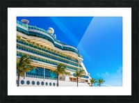Cruise Ship in Paradise Picture Frame print
