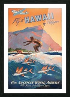 HAWAII TRAVEL POSTER Picture Frame print